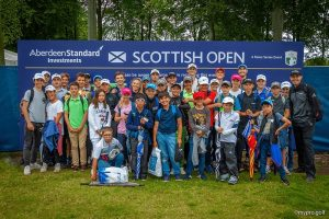 At The 2019 Scottish Open during the Open Camp